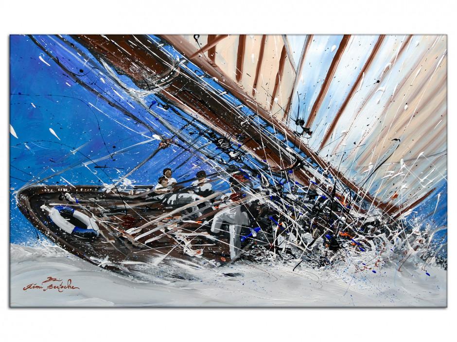 Reproduction peinture Rémi Bertoche sur Aluminium Yacht Show