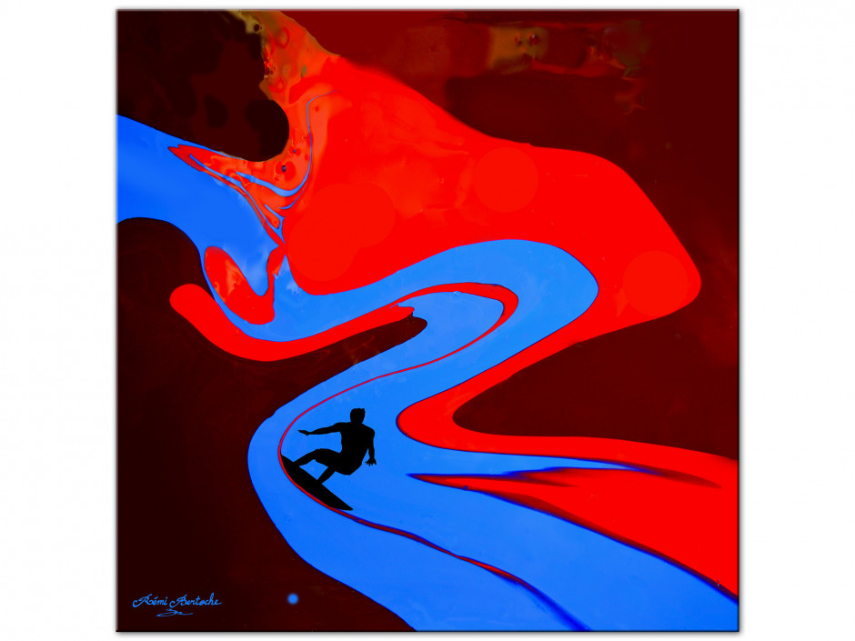Tableau Surf the painting reproduction Aluminium Rémi Bertoche série limitée