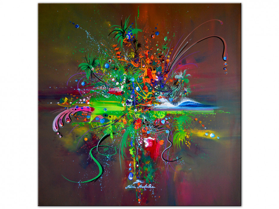 Tableau Aluminium décorative reproduction peinture abstract jungle