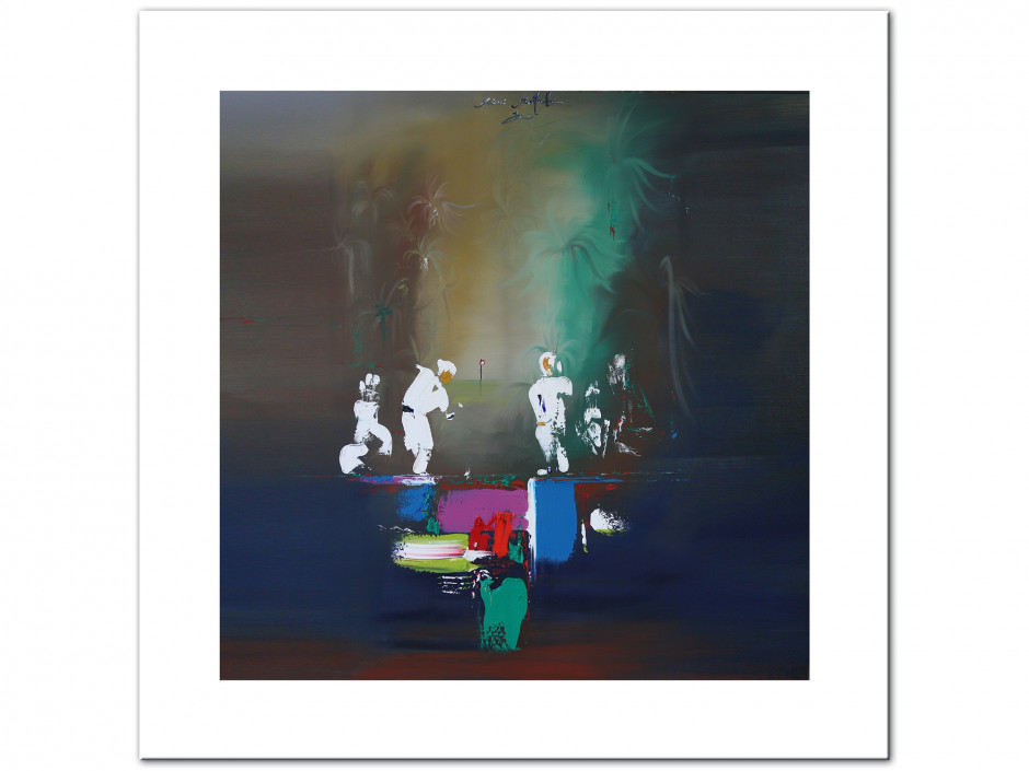 Tableau décoratif Aluminiums peinture Rémi Bertoche golf abstract