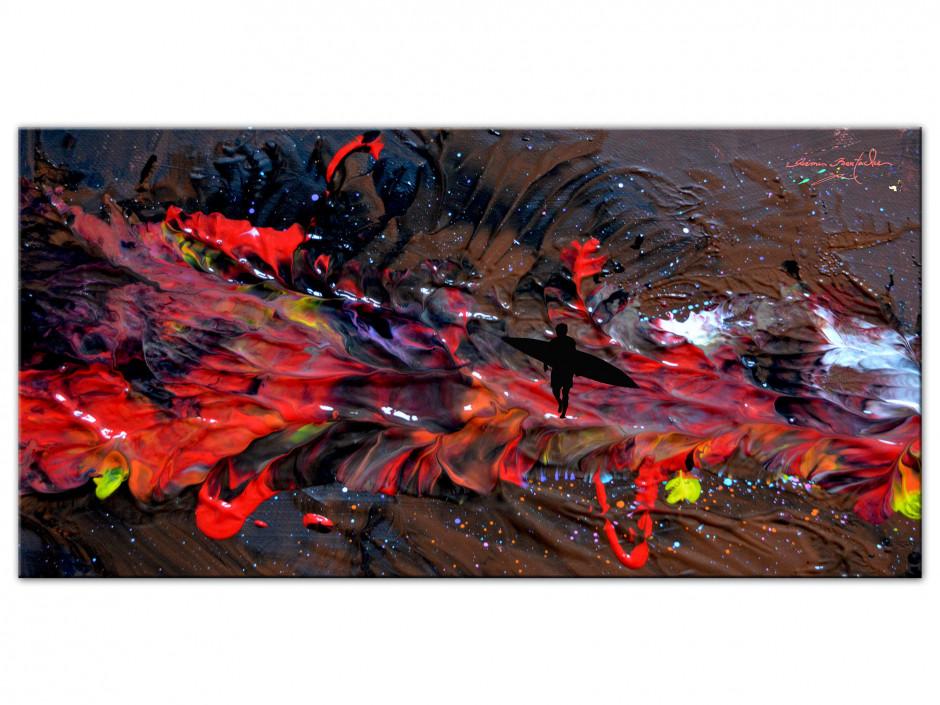 Tableau déco abstract painting reproduction Aluminiums Rémi Bertoche