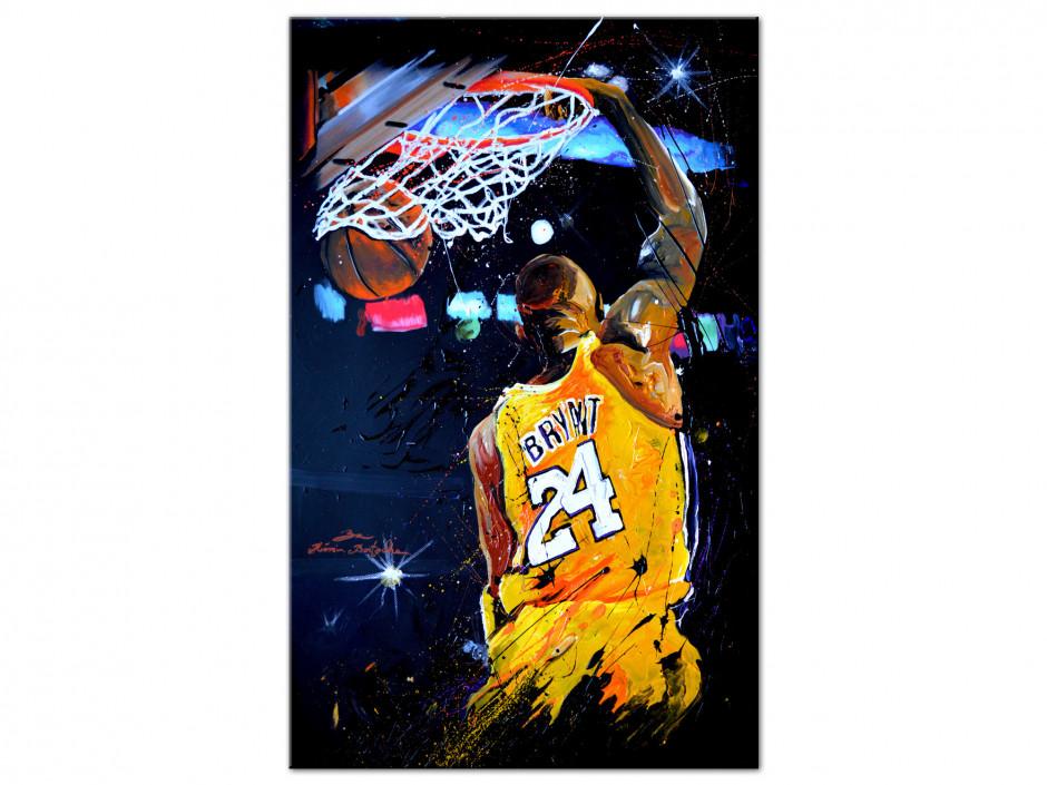 Reproduction tableau Rémi Bertoche basket Lakers sur Aluminium imprimée