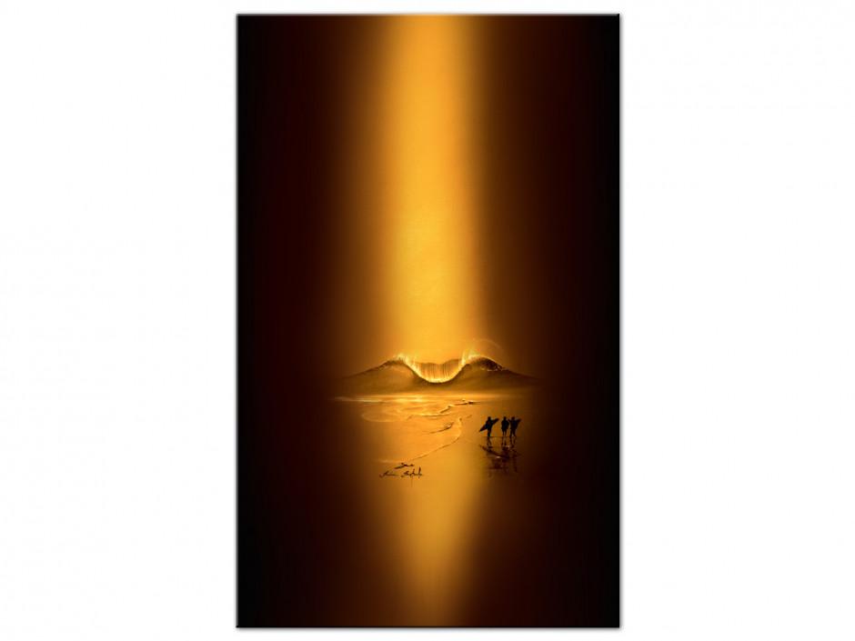 Tableau gold session reproduction peinture sur Dibond Rémi Bertoche
