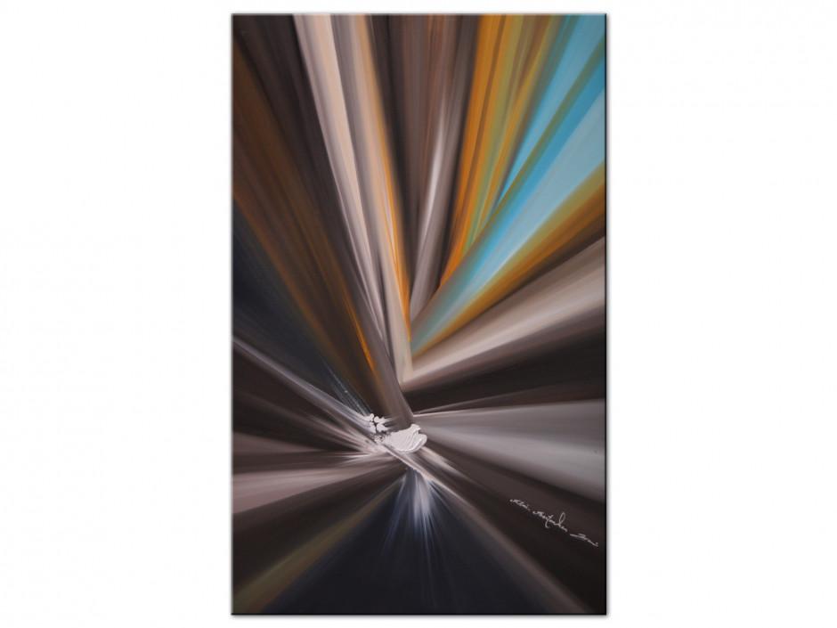 Reproduction peinture sur Aluminium imprimée Lignes de couleurs