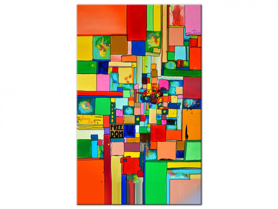 Tableau Freedom reproduction peinture sur Aluminiums Rémi Bertoche