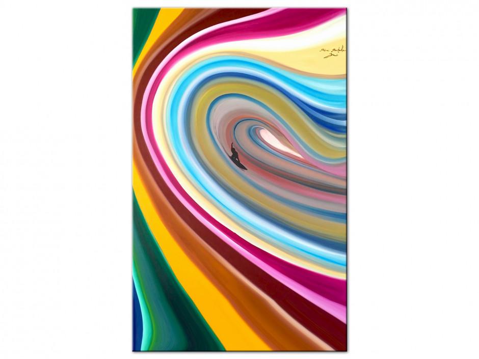 Tableau Surf the line reproduction peinture sur Dibond Rémi Bertoche