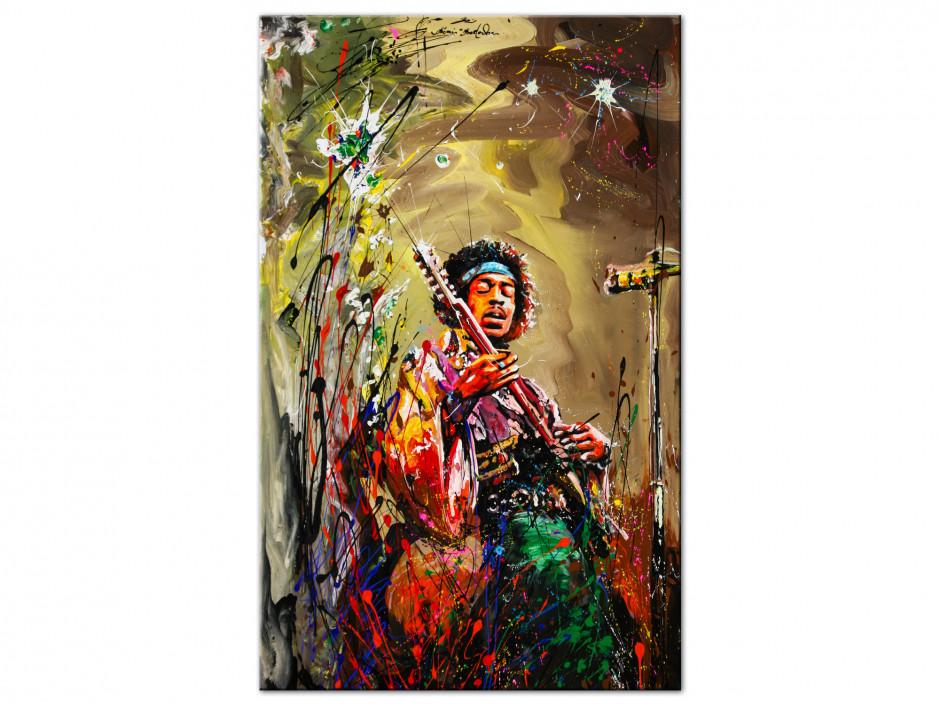 Reproduction tableau Rémi Bertoche sur Aluminium imprimée Jimi Hendrix