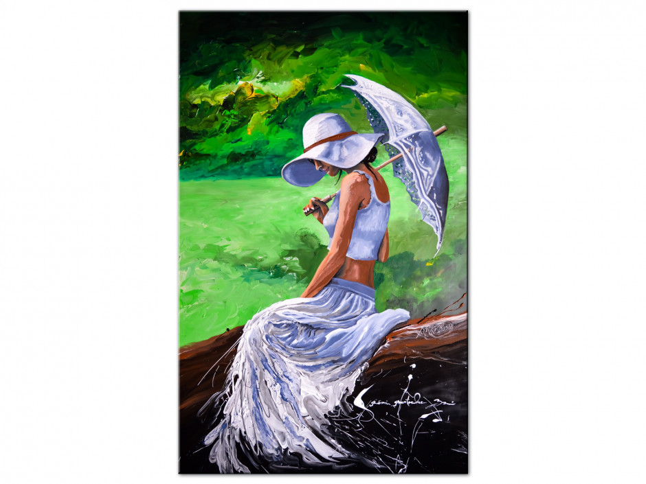 Reproduction peinture Artiste Rémi Bertoche sur Aluminium imprimée Woman in Love