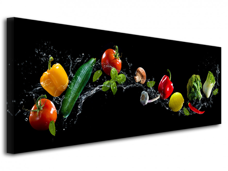 Tableau toile panoramique cuisine  Les Légumes