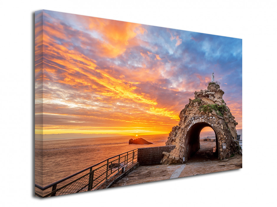 Tableau déco toile Rocher de la Vierge Biarritz