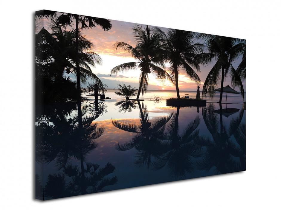 Tableau déco toile Sunset tropical Bali