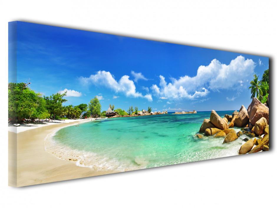 Tableau toile décoratif panoramique Seychelles