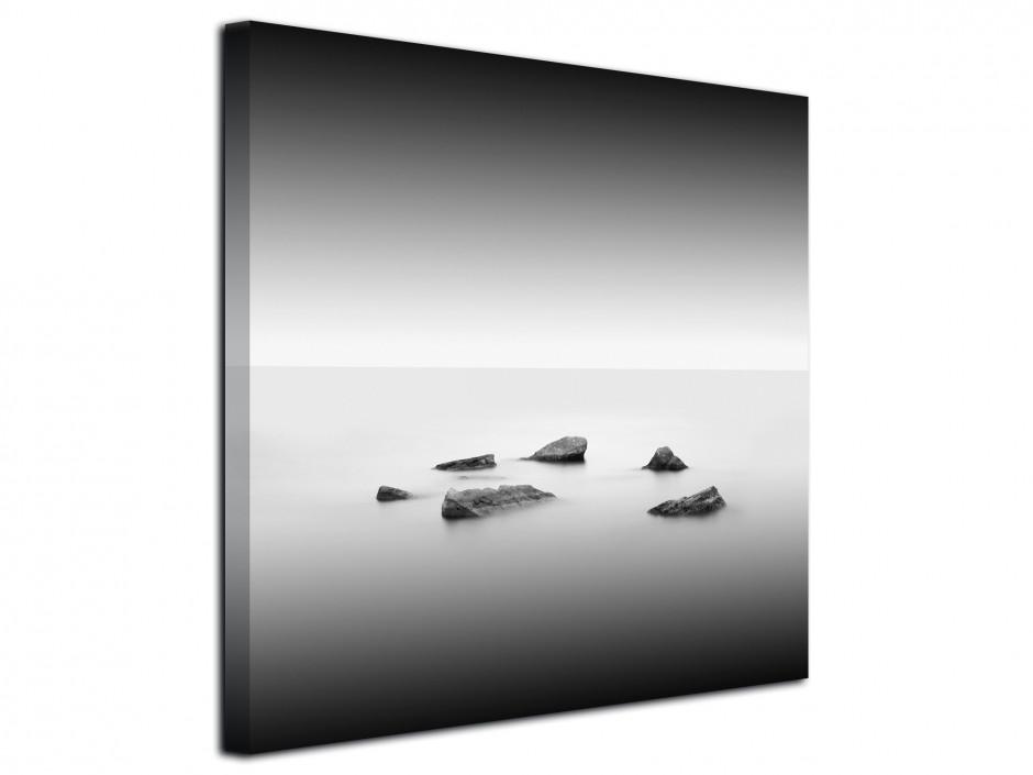 Tableau déco toile paysage en noir et blanc