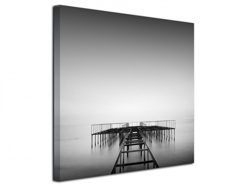 Tableau toile paysage photographie noir et blanc