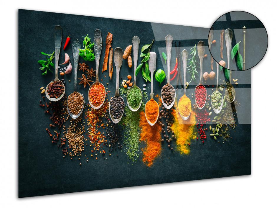 Tableau cuisine Les épices impression sur plexiglas