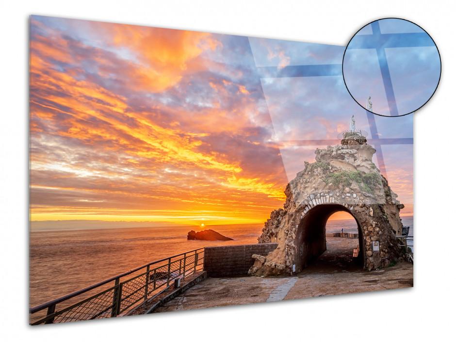 Tableau déco plexiglas Rocher de la Vierge Biarritz
