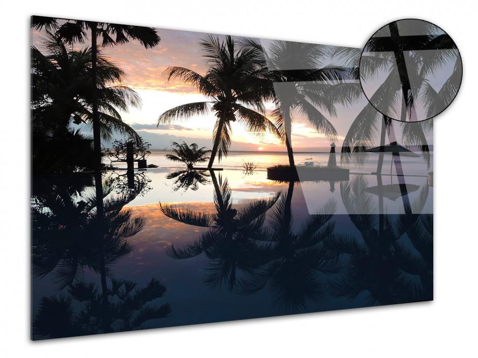 Tableau déco plexiglas Sunset tropical Bali