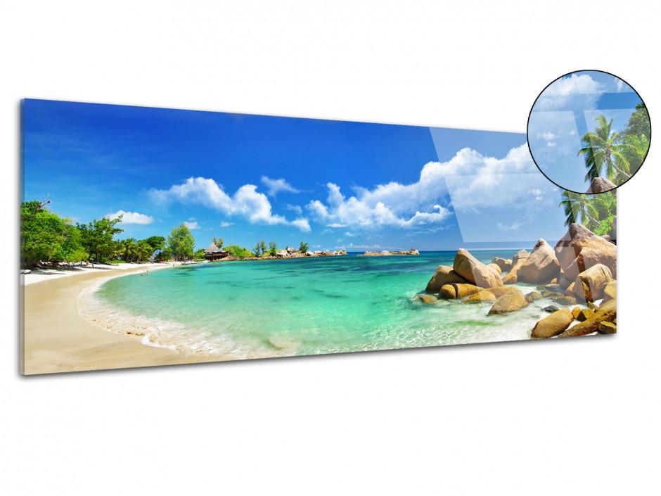 Tableau plexiglas décoratif panoramique Seychelles