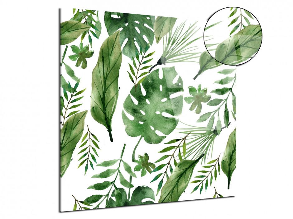 Tableau plexiglas décoration salon fleurs tropicales