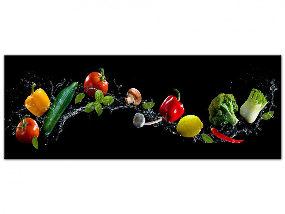 Tableau Aluminium panoramique cuisine Les Légumes