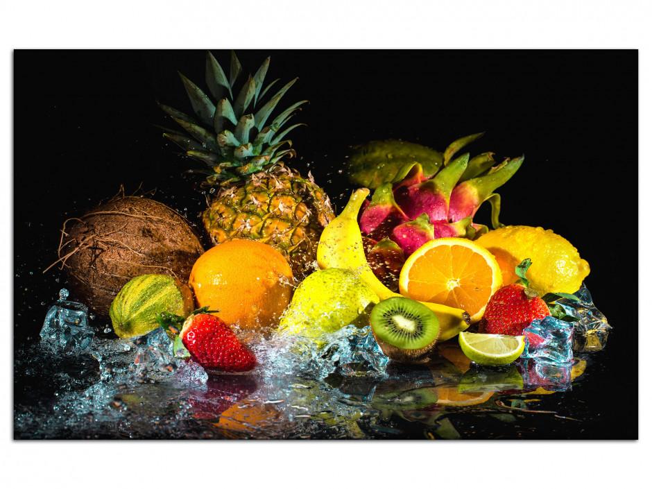 Tableau Aluminium décoration cuisine Les Fruits