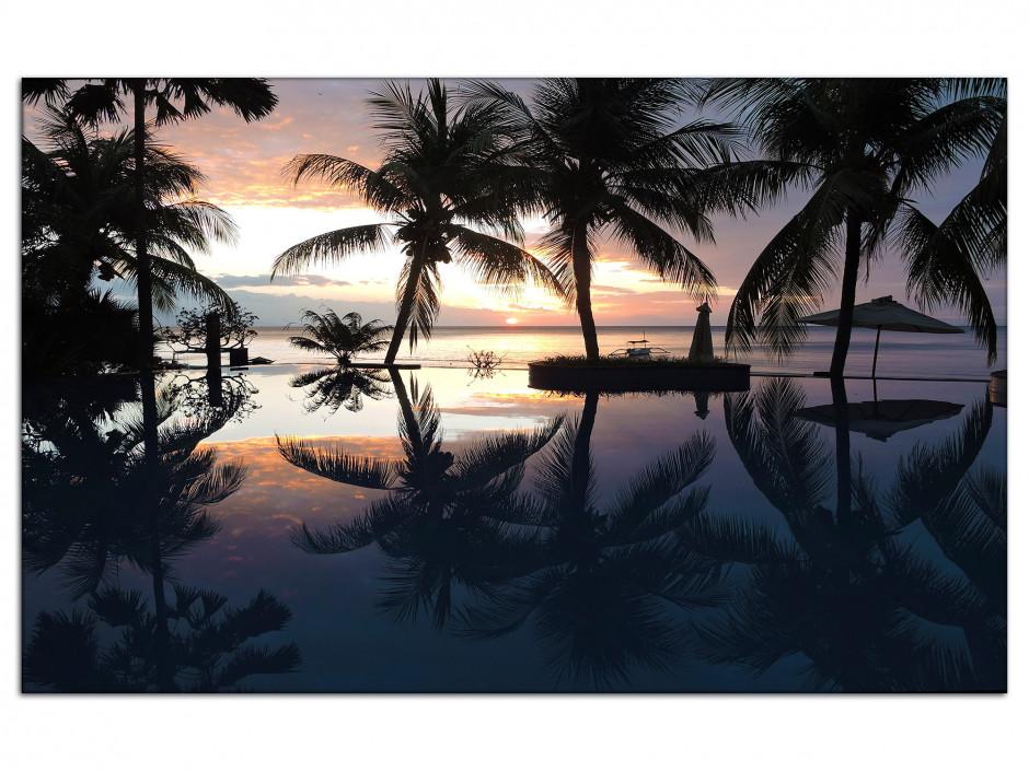 Tableau déco Aluminium Sunset tropical Bali