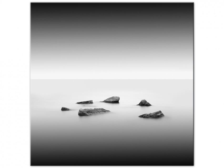 Tableau déco Aluminium paysage en noir et blanc