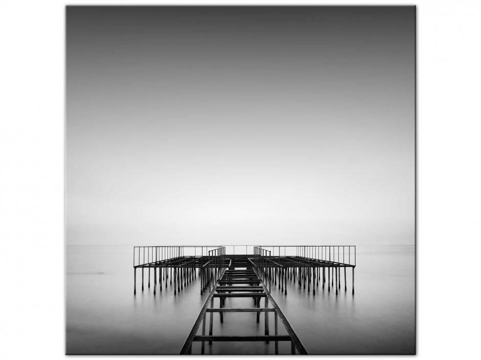 Tableau Aluminium paysage photographie noir et blanc