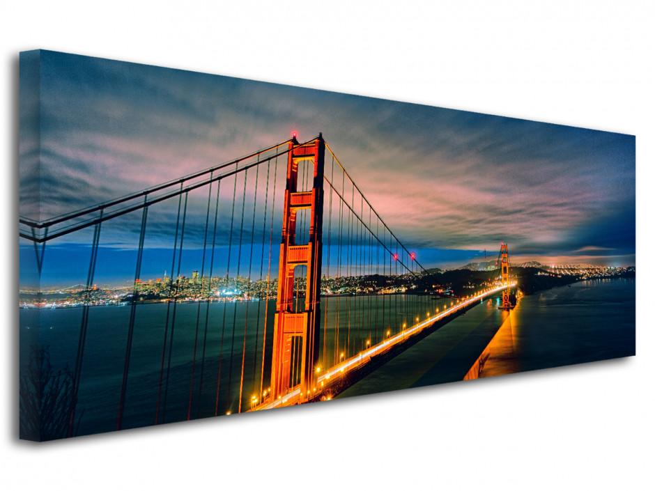 Tableau toile panoramique Golden Gate Bridge