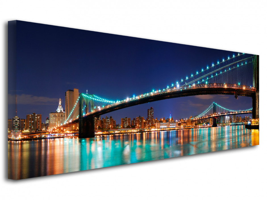Tableau toile photo panoramique Brooklyn Bridge