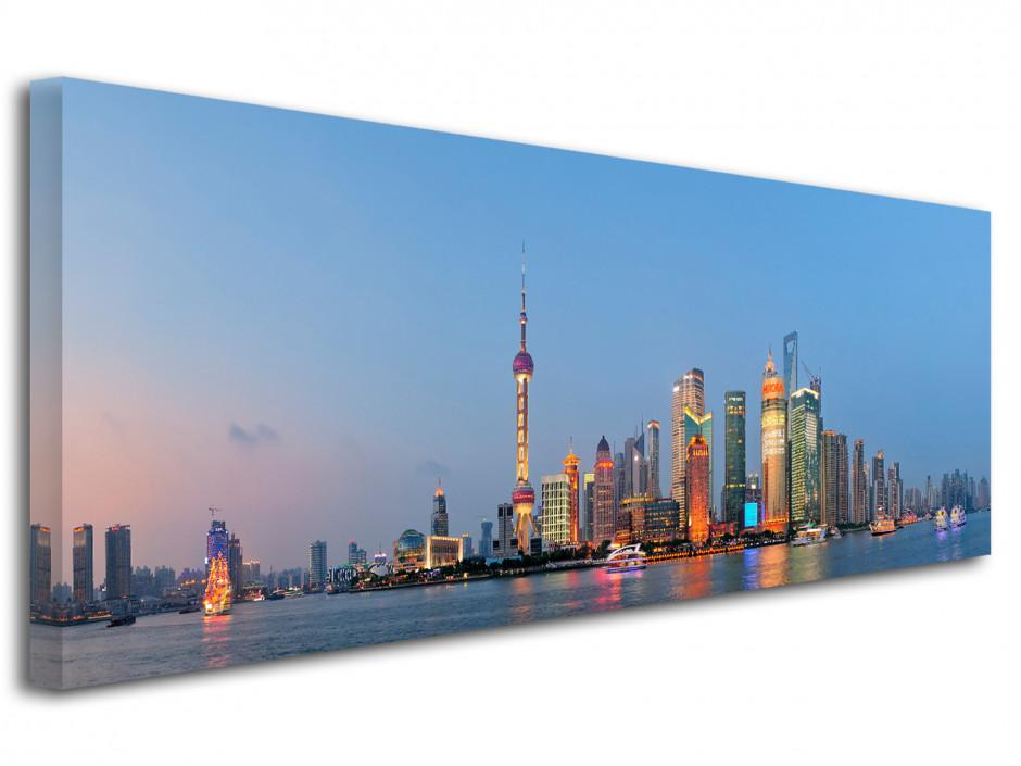 Tableau toile photo panoramique ville de Shanghai