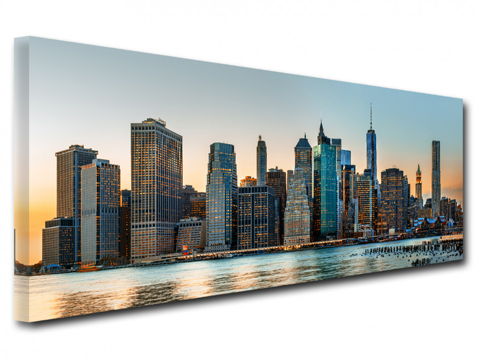 Tableau toile panoramique New York City skyline