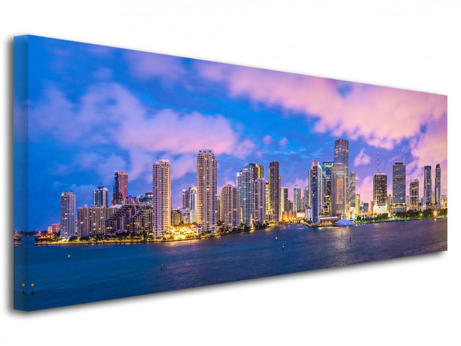 Tableau toile photo panoramique Miami