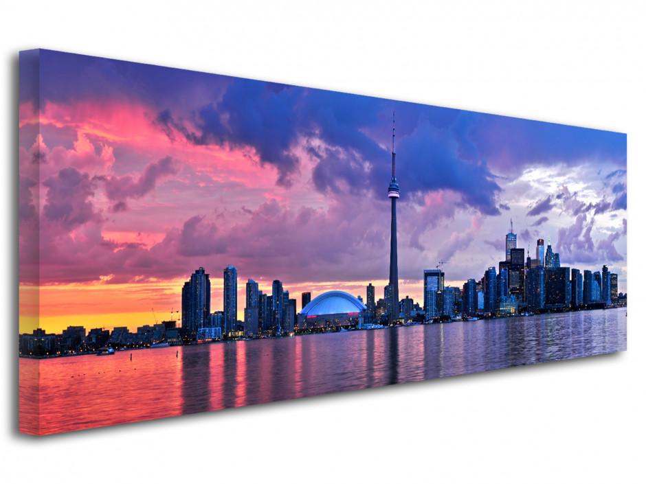 Tableau toile panoramique ville de Toronto Canada