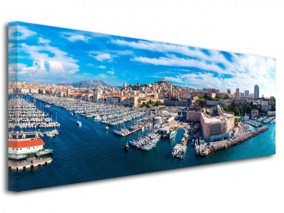 Tableau toile panoramique ville de Marseille