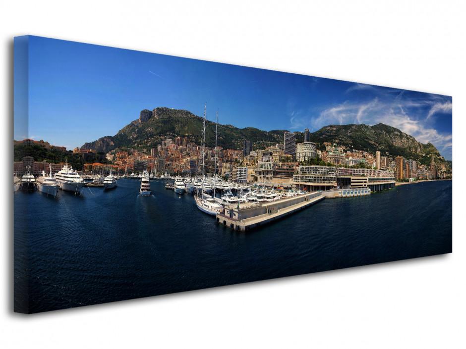 Tableau toile photo panoramique Monaco
