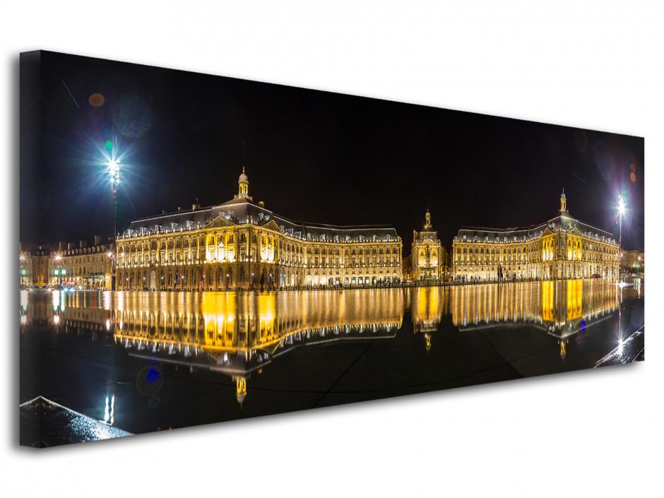 Tableau toile photo panoramique ville de Bordeaux