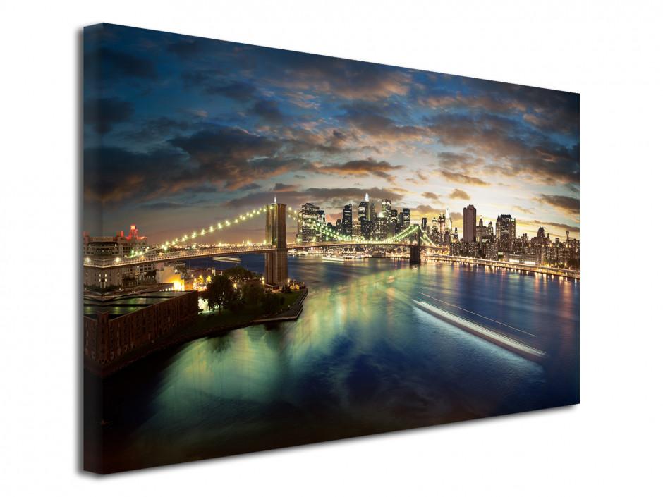 Tableau deco toile coucher de soleil sur New York