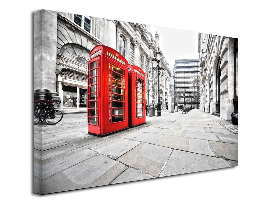Tableau toile deco Les Cabines de Londres