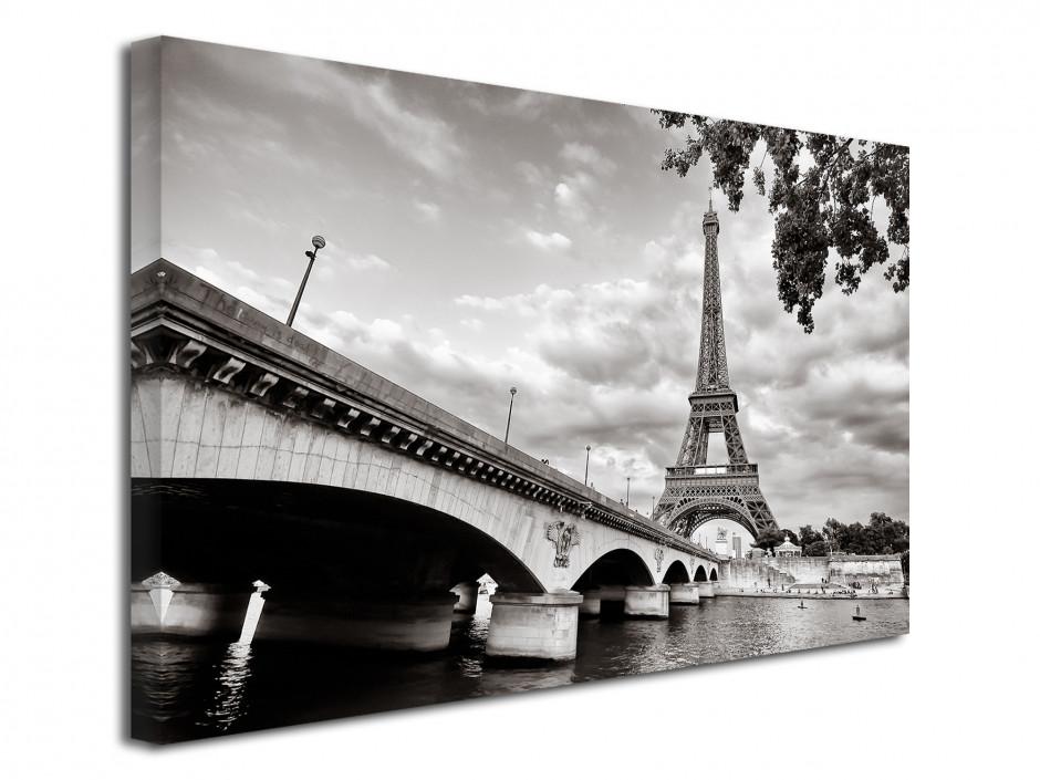 Tableau toile photo noir et blanc la tour Eiffel