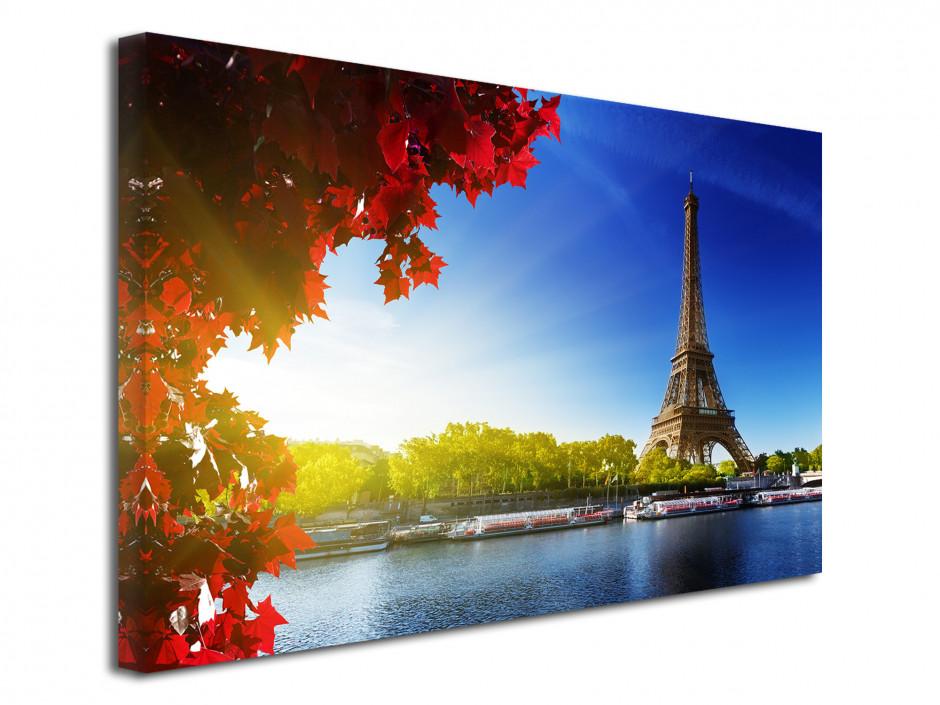 Tableau toile photo la tour Eiffel et la Seine