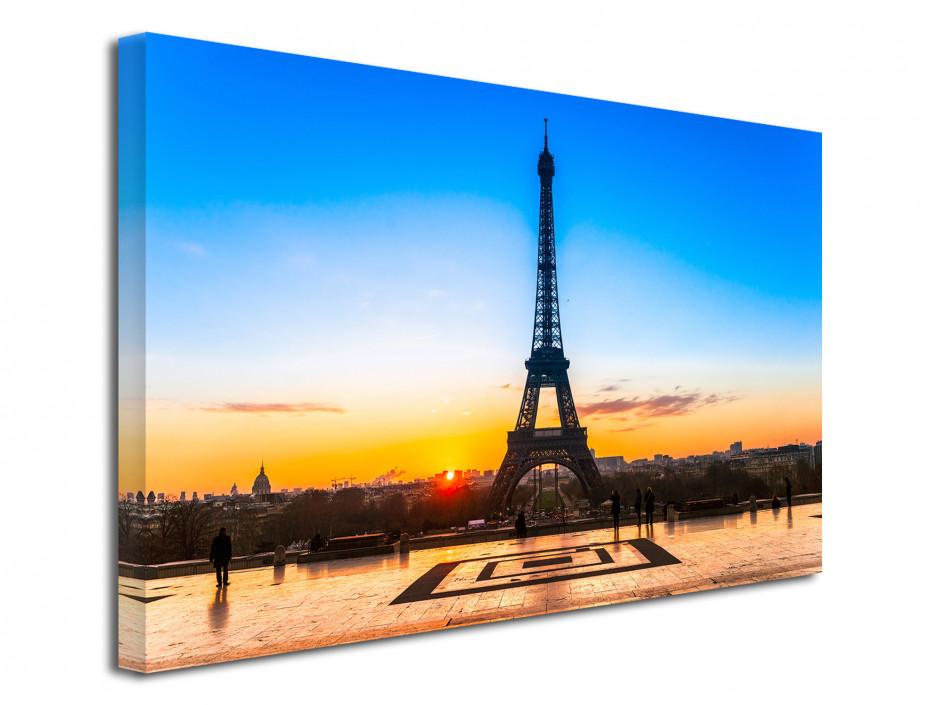 Tableau toile deco sunset sur la tour Eiffel