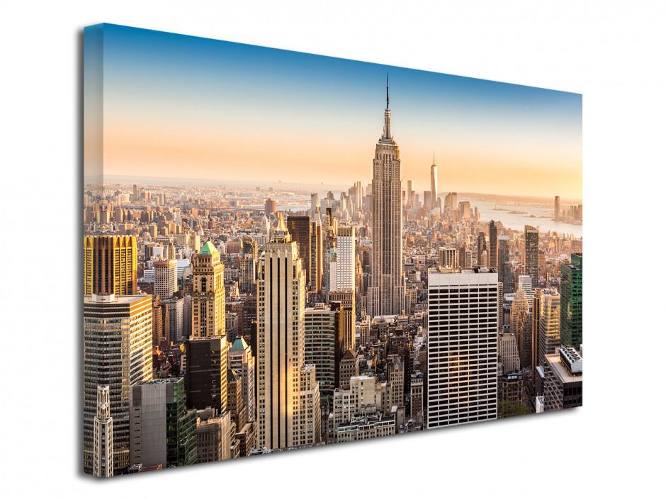 Tableau toile photo sunrise to New York