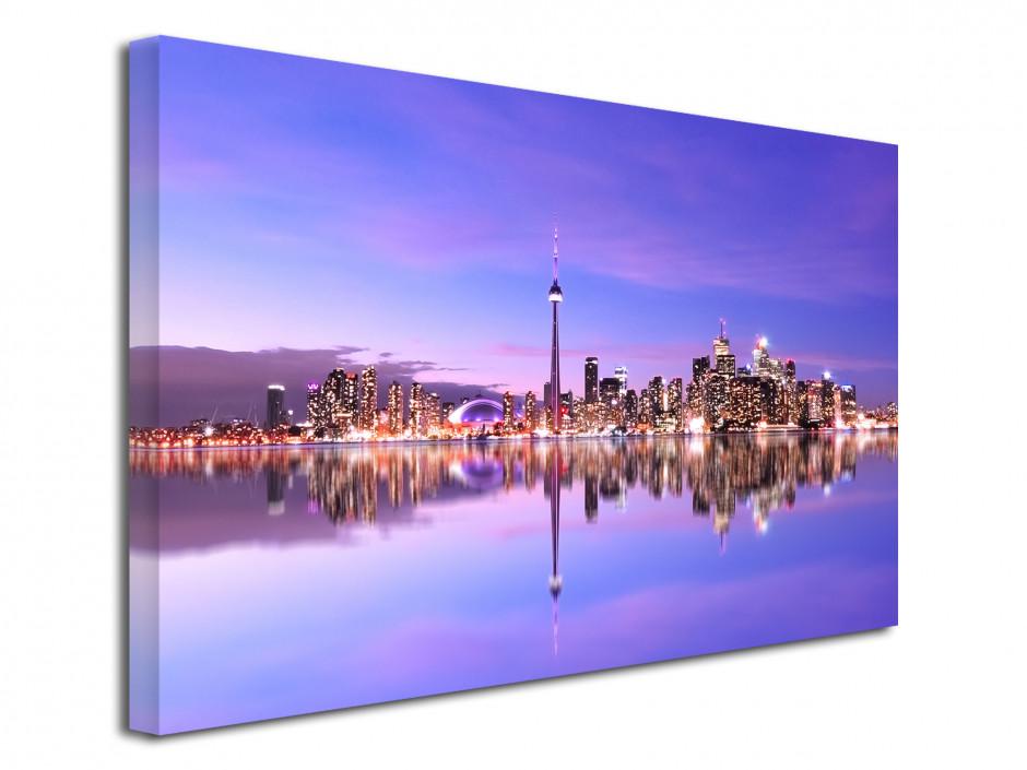 Tableau toile photo déco sunset et reflet à Toronto