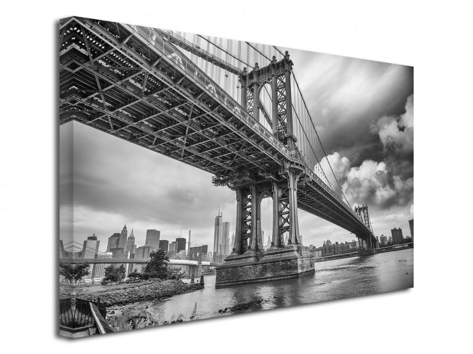 Tableau toile photo noir et blanc Manhattan Bridge