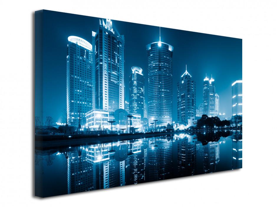 Tableau toile déco photo de Shanghai de Nuit