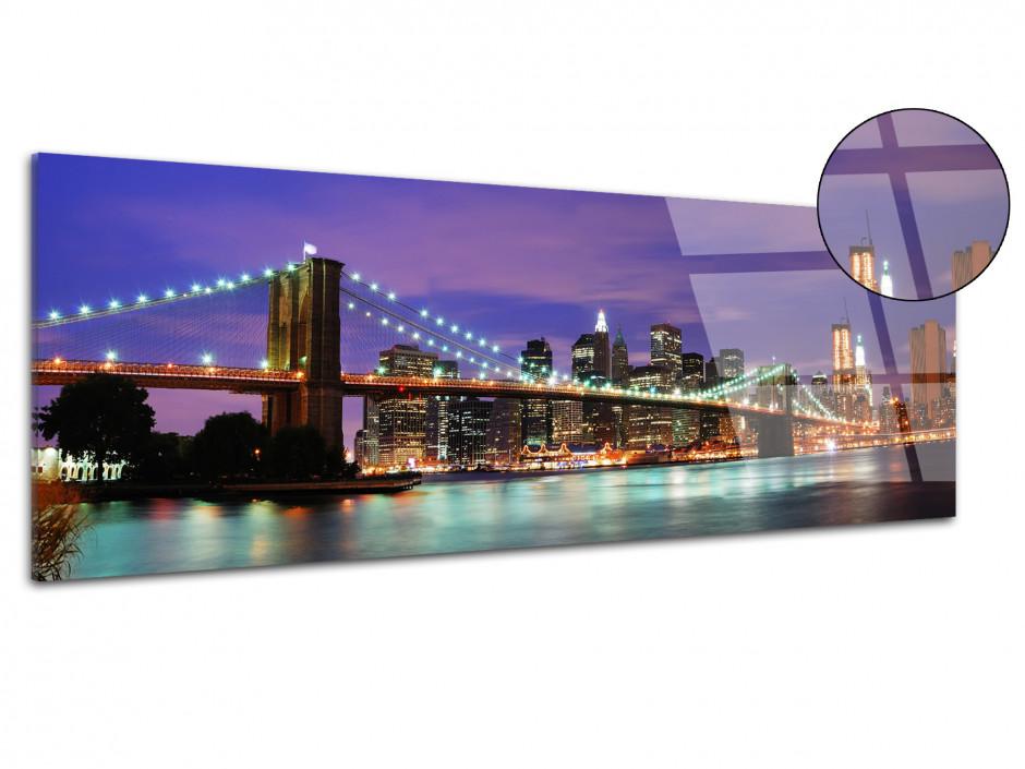 Tableau plexiglas déco panoramique brooklyn bridge