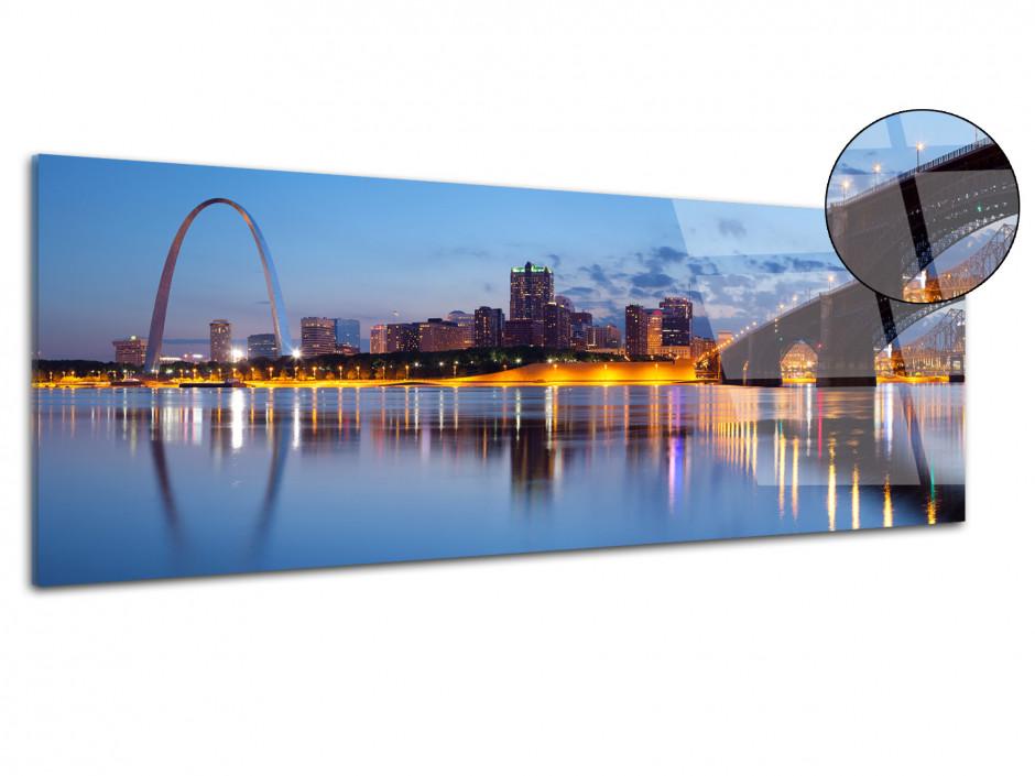 Tableau plexiglas photo panoramique St. Louis City
