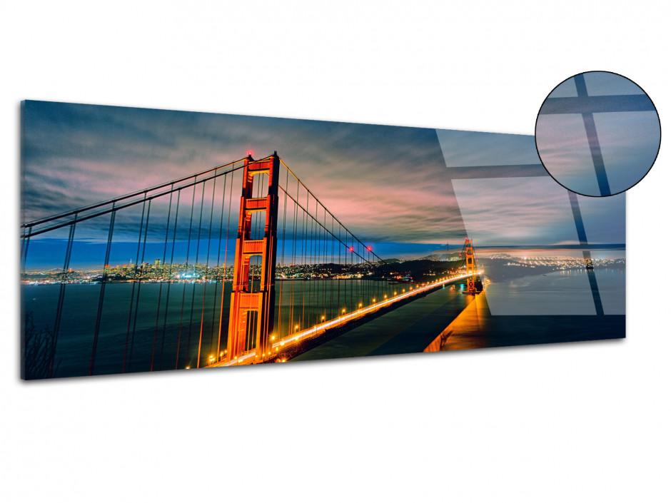 Tableau plexiglas panoramique Golden Gate Bridge