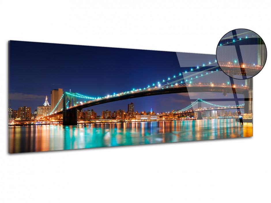 Tableau plexiglas photo panoramique Brooklyn Bridge